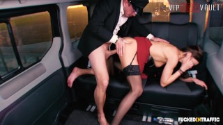 VIPSEXVAULT - Horny British Slut Fucked Hard In a Czech Taxi