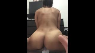 Puertorican riding a dildo