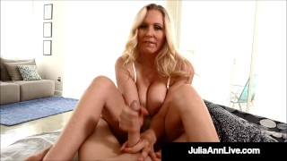 Hot Step-Mother Julia Ann Gives Step-Son Early AM Handjob!
