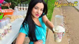 MamacitaZ - Young Petite Colombian Street Vendor Rides Cock Like a Pro