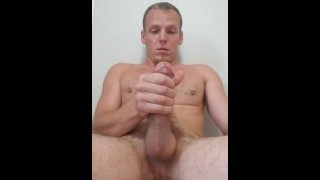Straight guy comes hard after edging
