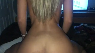 Milf wife riding reverse cowgirl