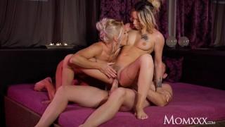 MOM Kathy Anderson spa threesome with hot French MILF Jennifer Amilton