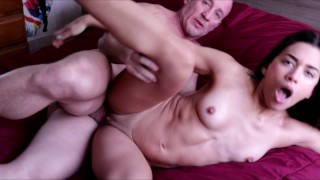 Fitness Model Sucking and Riding Dick - AMATEUR TEEN