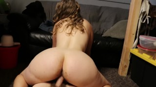 POV horny babe fuck - bouncing tits, huge ass reverse cowgirl