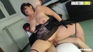 AmateurEuro - Italian Mature Slut Drilled By a Young Cock