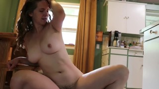 Down to FUCK! Hot cowgirl ride Bouncing Tits and Grinding Hips