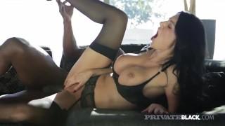 PrivateBlack - Milf Ania Kinski Squirts While Fucking BBC!