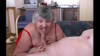 82 year old Grandma Libby fucks young wannabe porn stud
