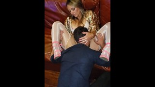 Creampie Gangbang pt1 hubby shares TINY Hotwife FUCK DOLL Amy w/ Strangers