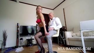 The fit Business Woman Seduction