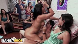 BANGBROS - Tasha Reign, Rose Monroe & Zoey Monroe Invade College Dorm