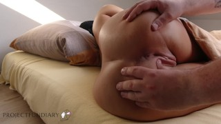 German horny wife spoils her husband with blowjob riding dick nice ass