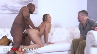 Shewillcheat - PAWG AJ Applegate cucks her hubby with bbc