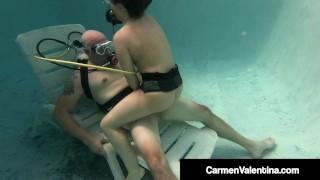 Scuba Diver Carmen Valentina Sucks & Fucks A Cock Underwater