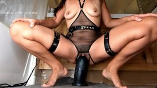 "Slow Stretch & Pussy Gaping with Mrhankeys Black XL Boss Hogg +11"" Girth"