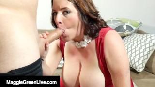 40yo Young Milf Maggie Green Mouth Fucks A Cock! Happy Bday!