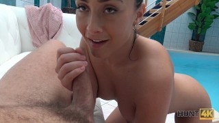 HUNT4K. Couple needs cash so why boy watches his girl getting fucked