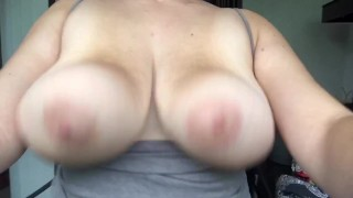 Hurricane Dorian Won't Stop Me From Bouncing My Huge Tits!