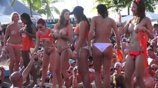Insane Pool Party Slut Contest Fantasy Fest