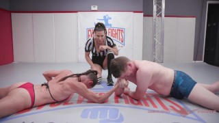 Competitive Mixed Arm Wrestling match Hanz vs Sofie Marie wicked Yummy