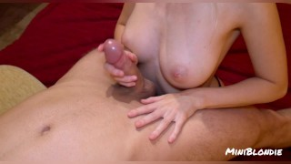 The hot titfuck cumshot you've been waiting for - MiniBlondie