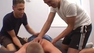 Bound young homo bound and tickled on body and feet