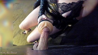 Teasing And Edging A Gloryhole Dick With Fleshlight