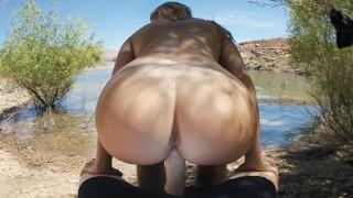 Anal Virgin Fucked at Public Beach - Molly Pills - Hot Outdoor Creampie POV
