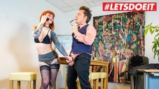 LETSDOEIT - Tattooed German Secretary Takes Good Care Of Her Boss's Cock