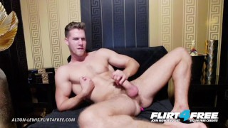 Alton Lewis on Flirt4Free - Blue Eyed Blonde Hunk w Big Cock Vibrates Ass