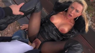Outdoor Deutsche Piss Sperma Anal Fick