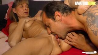 AmateurEuro - Mature German Wife Cums Hard On Neighbor's Cock