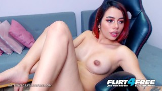Katt Fields on Flirt4Free - Latina College Babe Spreads Her Perfect Ass