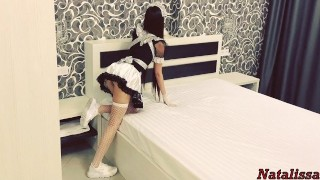 Hot French Maid Gets Roughly Fucked By The Tenant - Natalissa