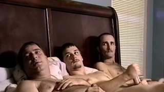 Fat amateur got his ass raw fucked after jacking off in 3way