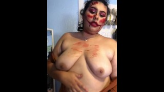 Sexy clown show off