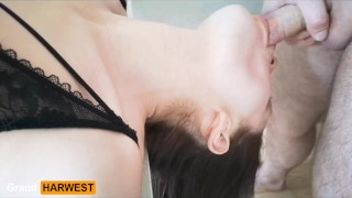 GrandHarwest. Blowjob on the kitchen table