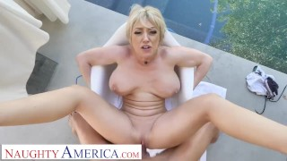 Naughty America - Dee Williams releases some stress by fucking you
