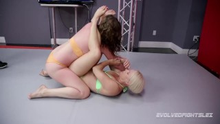 Lesbian sex wrestling Helena Locke vs Remy Rayne at Evolved Fights Lez