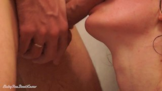 Great Blowjob In The Bathroom And Cumshot On Face