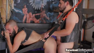 Hairy bear gets assfucked after rimmed