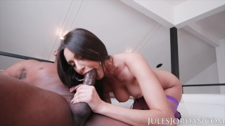 Jules Jordan - Natural Beauty Eliza Ibarra Takes On A Big Black Cock