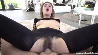 Julia Roca's delicious hairy pussy excites stud Nacho Vidal
