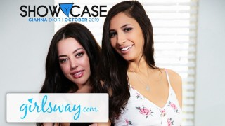 Girlsway Whitney Wright & Gianna Dior Lesbian Truth or Dare!