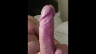 Leaking edging with multiple ruined orgasms ending with a thick creamy load
