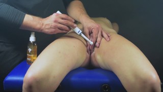 Multi orgasms clit massage-Post orgasm torture