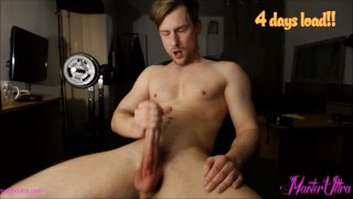 masturbating my rock hard cock and cumming hard in my face