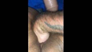 Fisting this slut while getting dick sucked