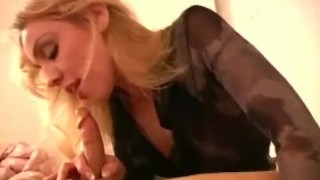 Charity Sucks Cock The Best Way she Can Til it Cums